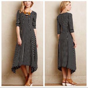 Anthro Saturday Sunday Navy Striped Maxi Dress